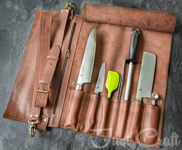 Скрутка для ножей Just Craft Каштан