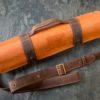 Скрутка для ножей Краст Терракота (ремни из кожи Данди Шоколад)